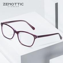 ZENOTTIC אצטט כיכר משקפיים מסגרת עבור גברים נקה עדשת גבירותיי מותג מעצב משקפיים קוצר ראייה אופטית קריאת Eyewear BT3031
