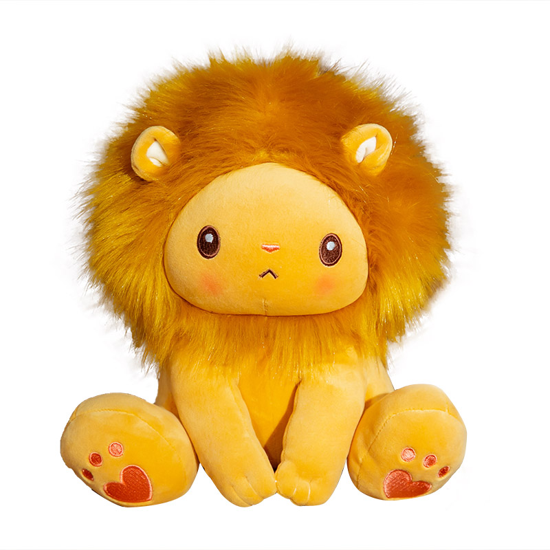 1pcs 25/40cm Cute Sitting Lion Plush Toy Cartoon Stuffed Animal Doll Soft Pillow Childlren Birthday Christmas Gift