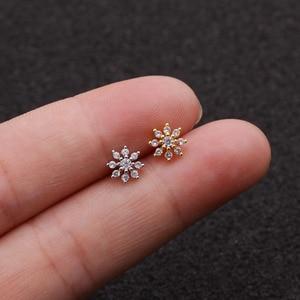 1 Piece Flower Small Women Ear
