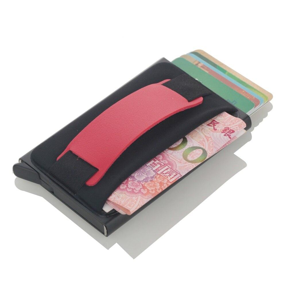 New Credit Card Holder Super Elastic Back Card Pocket Mini RFID Blocking Card Holder Men And Women Card Wallet