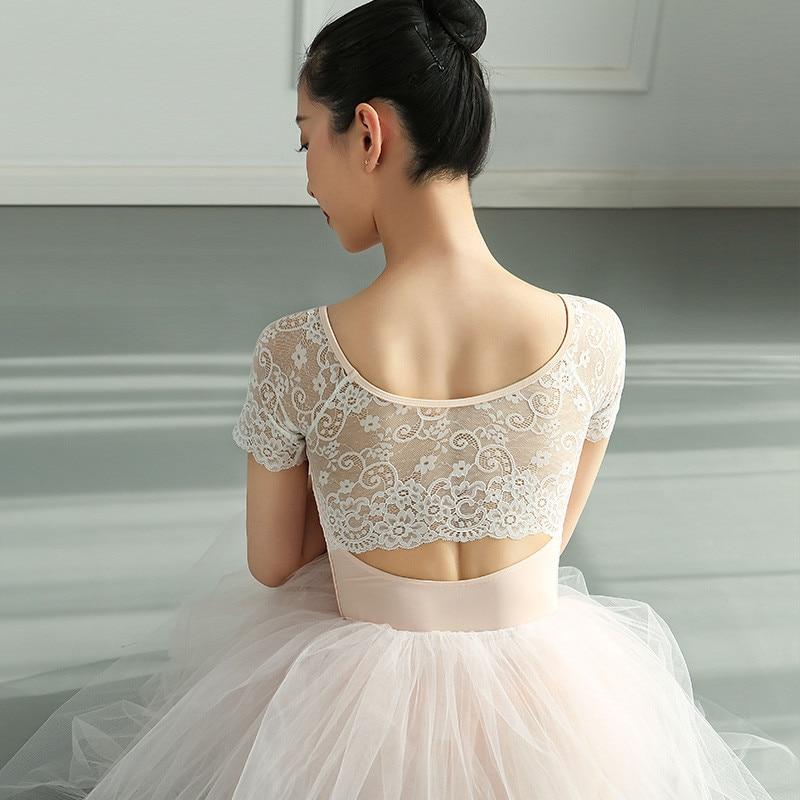 2021 с круглым кружевным воротником взрослый костюм для гимнастики Детская Одежда для танцев; Трико для танцевальная одежда для девушек бале...