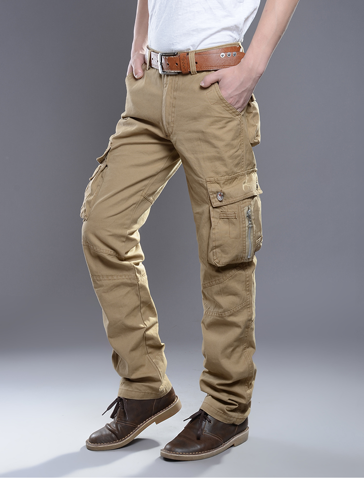 KSTUN New Cargo Pants for Men Baggy Casual Pants Male Overalls Full Length Trousers Loose Straight Cut Pants Zippers Pockets Desinger 12