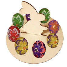 Wooden Chick Shape Easter Egg Frame Decoration Tray Holder For Children Storage Holders