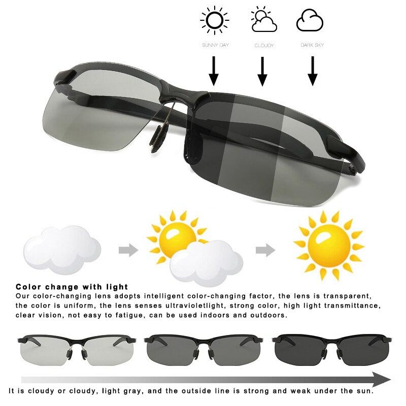 Hot Smart Photochromic Polarized Sunglasses UV Protection Anti Glares Fashion For Driving Fishing J99