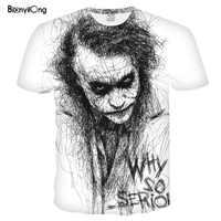2019 neue männer t shirt 3D Druck Frauen Männer Design Haha Die Joker Poker T-shirt Sommer T-shirt Casual Kurzarm harajuku Tops & tees