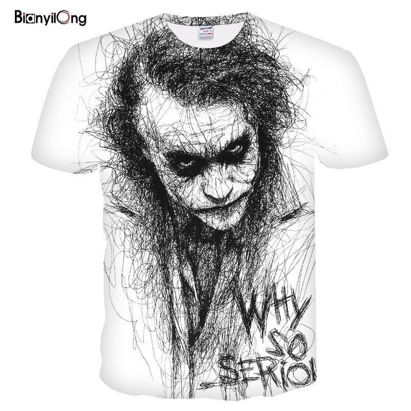 2019 New Men T Shirt 3D Print Women Men Design Haha The Joker Poker Tshirt Summer T-shirt Casual Short Sleeve Harajuku Tops&tees