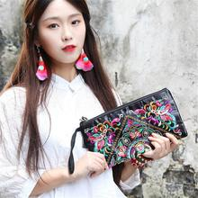 Women Bag Handbags Summer Satin Clutch Embroidered Purse Phone Coin Tassel Small Floral Female Casual Wallet Vintage Hot Sale