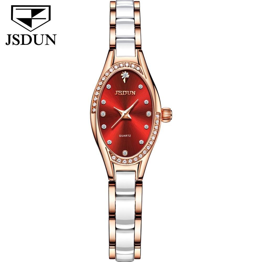 Designer Ceramics Watches For Women Luxury Diamond Gold Casual Waterproof Brand Watch Women Elegant Fashion Quartz Ladies Watch