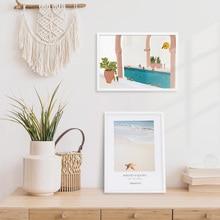 Posters Frame Painting Plexiglass Photo Canvas Home-Decor Black White Wall-Art Metal