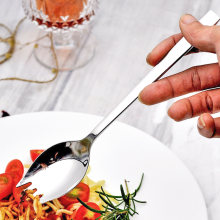 Roestvrij staal vork lepel geïntegreerde voor fruit salade leuke