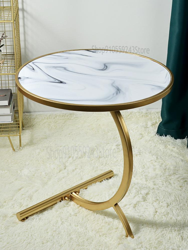 Light Luxury Sofa Side Table Living, Wrought Iron Living Room Furniture