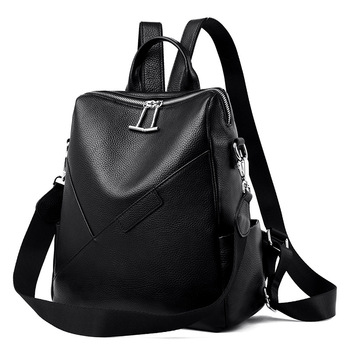 New Soft Leather Shoulder Bag Women's Cowhide Real leather Large-capacity Backpack Stylish Minimalist Women's Bag Women Backpack