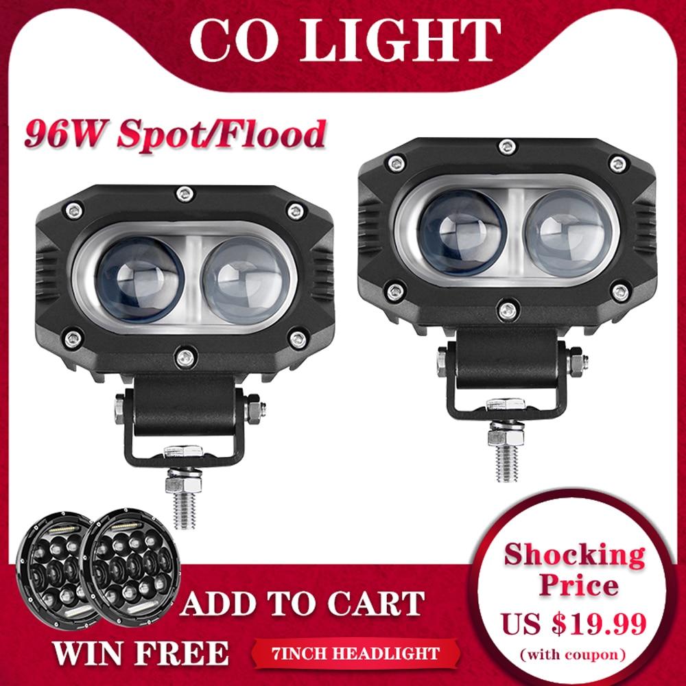 "4X 4/""IN 18W CREE LED LIGHT WORK BAR OFFROAD JEEP TRUCK FLOOD PODS 1500LM 12V24V"