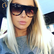 Fashion Sunglasses Brand Designer Vintage Female Flat