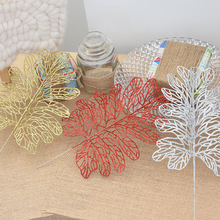 Christmas Decoration Plastic Simulation Glitter Hollow Flower Wedding Artificial Flowers New Year Leaves
