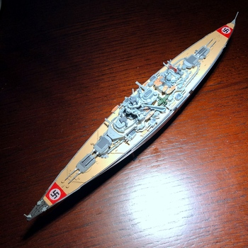 1/1000 New Special Die-cast Metal German Warship Military Static Finished Product Home Display Collection Modeltoys For Children