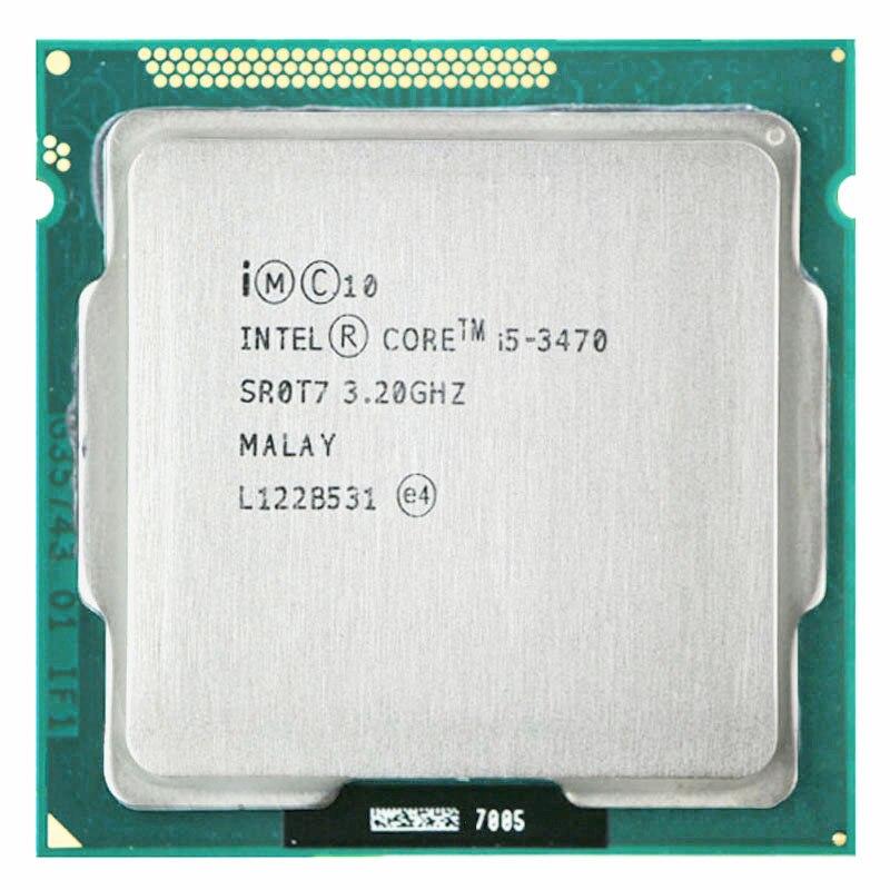 Intel core i5-3470 i5 3470 cpu 3.2 ghz quad-core l3 cachen tamanho 12 m soquete lga 1155 núcleo cpu