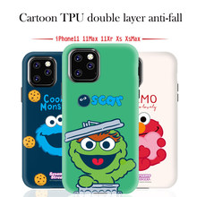 Cartoon phone case Sesame Street for iPhone 11 Pro Max cute xs max girl x r drop tpu pc fashion iphone 7 8 plus()