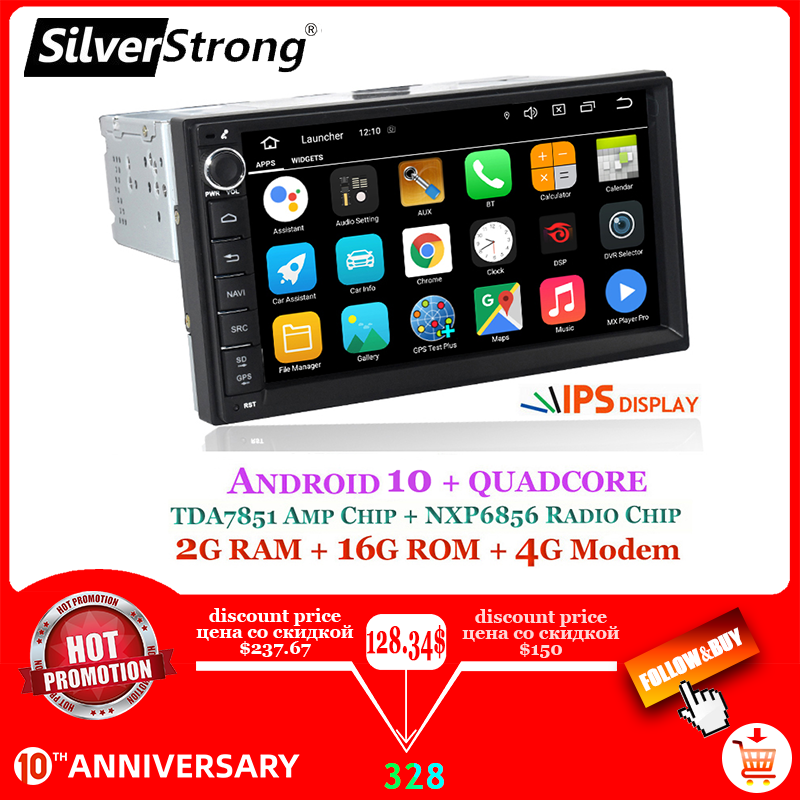 "Silverstrong Android10-9.0 1Din 7 ""Universele Auto Dvd Radio Multimedia Bluetooth Gps Navigatie Auto Stereo Mirrorlink 707M3"
