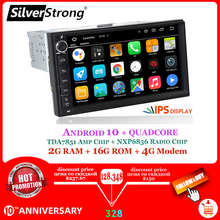 "Silverstrong Android10-9.0 1Din 7 ""Universele Auto Dvd Radio Multimedia Bluetooth Gps Navigatie Auto Stereo Mirrorlink 707M3(China)"