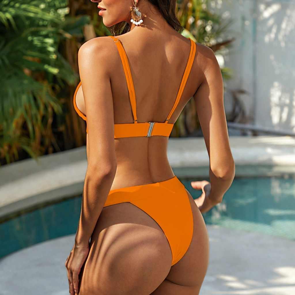 Hot Vrouwen Bikini Set Leopard Badpak Serpentine Split Badpak Lady Padded Sexy Twee Stukken Badmode Maillot de Bain X #4