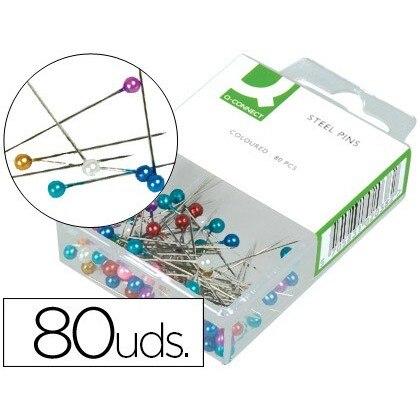 NEEDLES SEÑALIZADORAS Q-CONNECT-BOX 'S 80 UNITS-COLORS ASSORTED