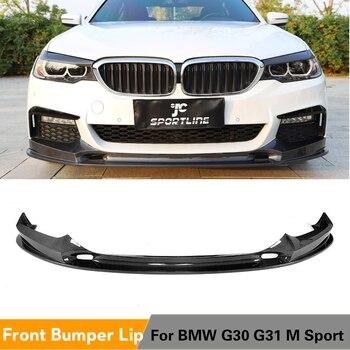 Передний бампер для губ из углеродного волокна, разделитель бампера, защитный фартук для BMW 5 серии G30 G31 G38 M-SPORT 2017-2019