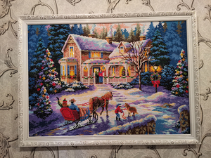 Image 5 - special shaped diamond painting 5d 3d diamond embroidery mosaic crystal stones beaded cross stitch kits scenery Christmas70*50cm