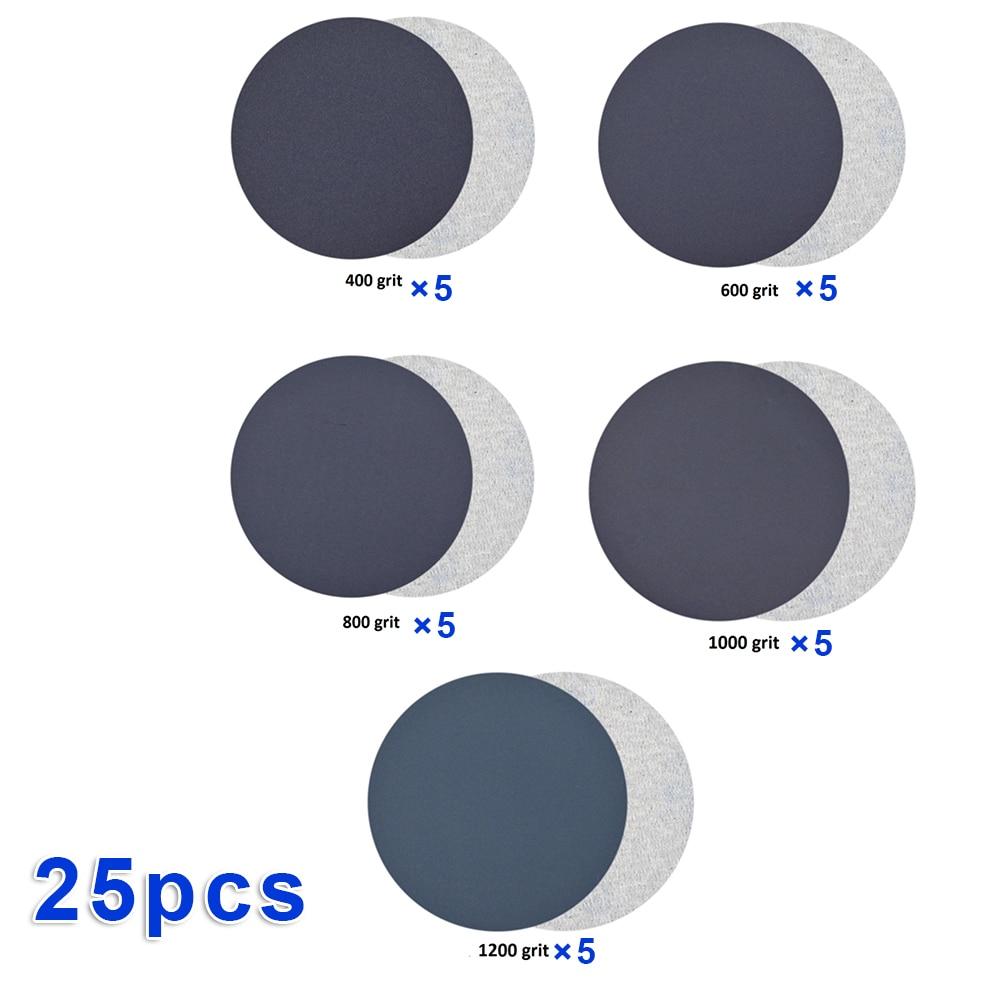 25pcs/Set Sandpaper Sanding Paper Wet & Dry Dual-use 400 600 800 1000 1200 Grit Good Wear Resistance