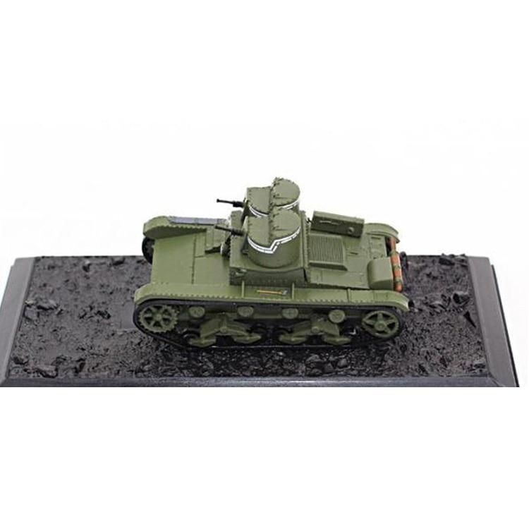 1/72  World War II Soviet Union  T-26 Light Tank Model  Finished Product  Alloy Model