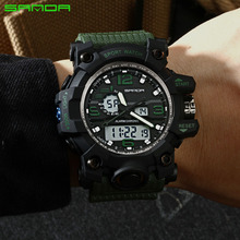 Cool Digital Light Series Led Watch Auto Luminescence Men Sport Watch Army Military Digital Watch Dual Time Zone ElectronicWatch все цены