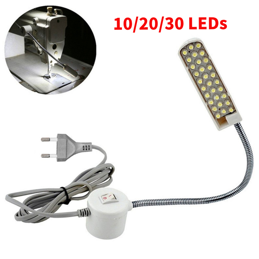 10/20/30 LED Industrial Sewing Machine Lighting Lamp Clothing Machine Accessories Work Light 360° Flexible Gooseneck Desk Lamp