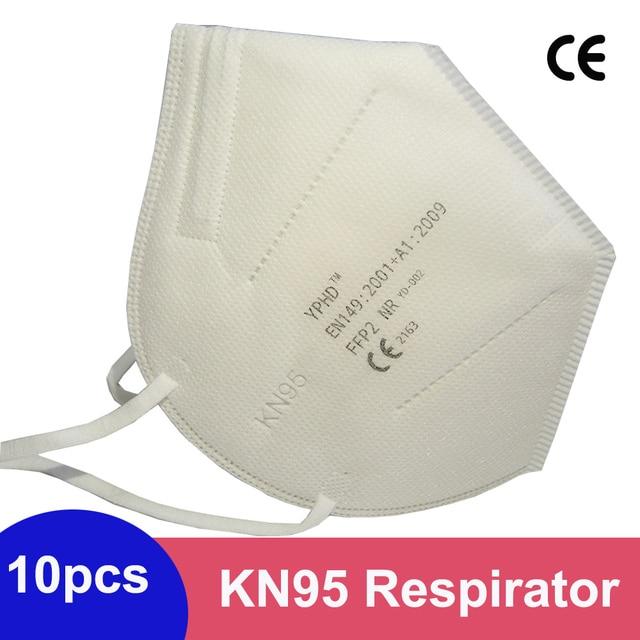 10/5pcs KN95 Face Masks ffp2 Respirator Dustproof ffp2 KN95 Face mask Filter 95% Filtration anti Dust Protective Mouth Mask