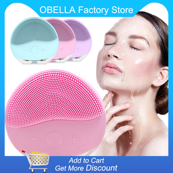 USB Electric Face Facial Cleansing Brush Foreoing Silicone Sonic Cleaner Deep Pore Cleaning Waterproof Skin Massage ultrasonic electric cleaning instrument waterproof silicone brush facial brush facial pore cleaning