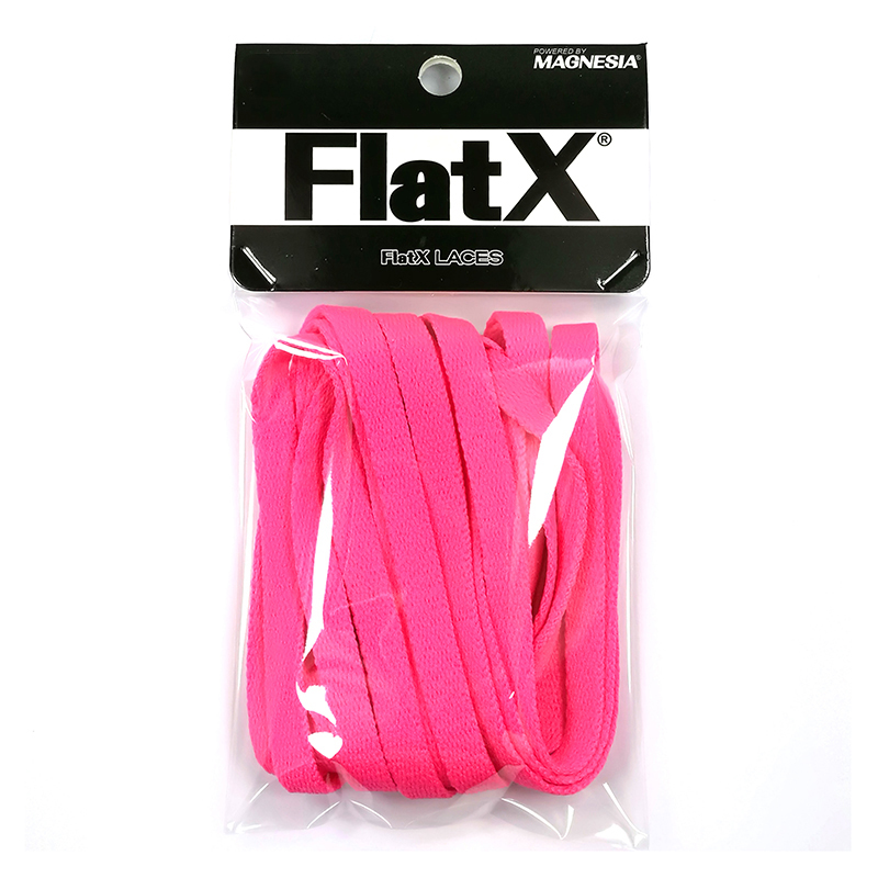FlatX 8mm Hot Pink Shoelaces High Quality Professional Sneaker Laces Anti-Release Shoelace Lacet  Branded Lace Wholesale