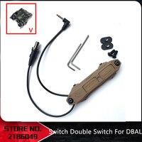 Airsoft Tactical Augmented Druk Schakelaar Dubbele Schakelaar Voor Dbal A2 3.5 Mm Airsoft NE08080-in Wapenverlichting van sport & Entertainment op