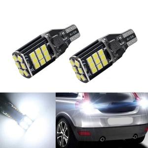 2x супер яркий T15 W16W 921 24 SMD LED 3030 Авто Canbus Обратный Свет заднее освещение резервная лампа
