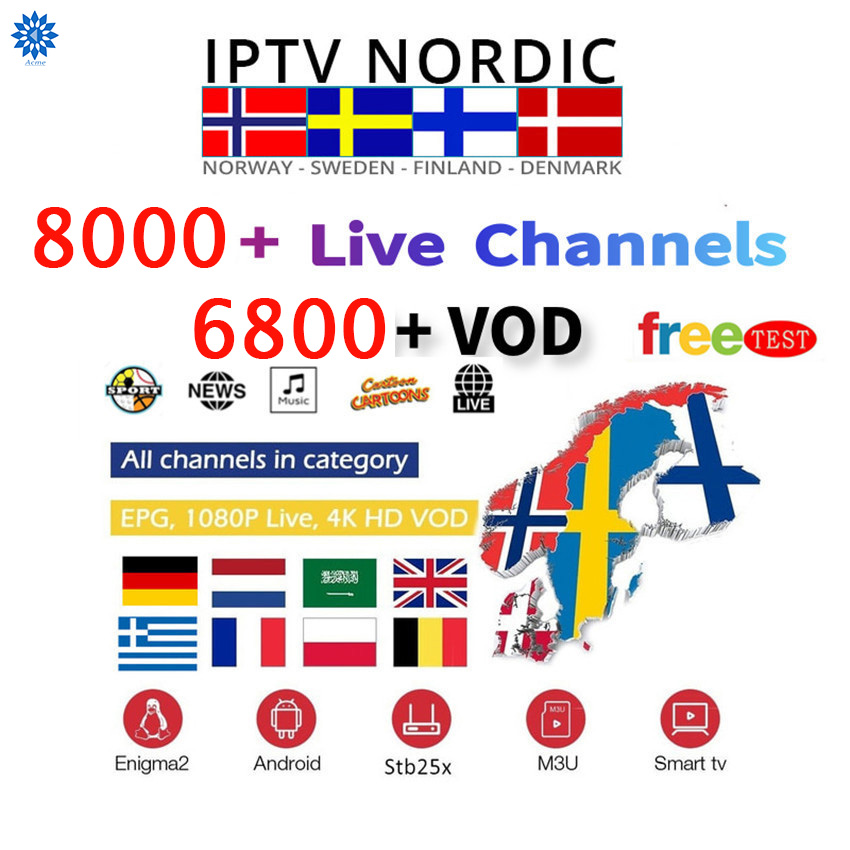 8000Best Europe Iptv Subscription World US France UK Dutch Italy German Uruguay India Albania Russian Android Smart IPTV M3u Mag