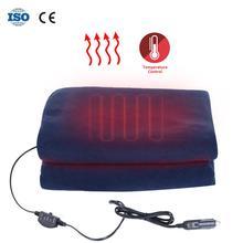 145x100 см одеяло с подогревом автомобиля энергосберегающее теплое 12 В Автомобильное осеннее и зимнее электрическое одеяло с 3 уровнями контроля положения