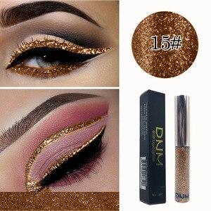 DNM Liquid Eyeliner Glitter Waterproof Long-lasting Make Up Eye Liner 16 Colour Quick-dry Eye Makeup Liquid Eyeline TSLM1