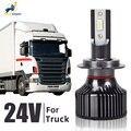 2 шт 24 Вт, светодиодные лампы для светильник грузовик H4 H7 H1 H3 H11 6000K Led 24V грузовик ближнего света дальнего света СИД головной светильник грузов...