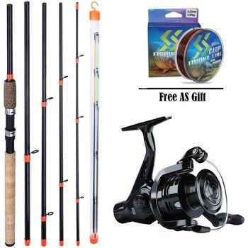 цена на Sougayilang Carp Fishing Rod and Reel Set 3M Spinning Feeder Fishing Rod and 4BB Carp Fishing Reel Rod 150m Fishing Line Combo