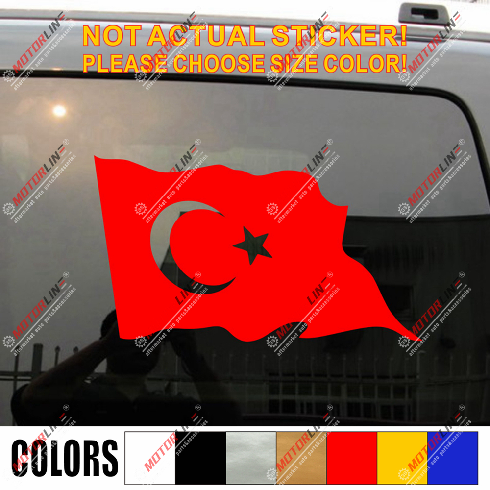 1x PORTUGAL STICKER WAVING FLAG BUMPER decal