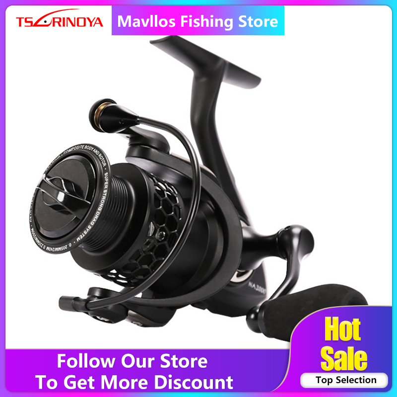 Tsurinoya NA 2000 3000 4000 5000 Saltwater Spinning Fishing Reel 9BB Speed Ratio 5.2:1 Aluminum Spool Carp Fishing Reel