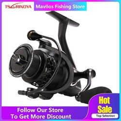 Tsurinoya NA 2000 3000 4000 5000 słonowodne Spinning Fishing Reel 9BB stosunek prędkości 5.2:1 aluminiowa szpula karpia kołowrotek|Kołowrotki|Sport i rozrywka -
