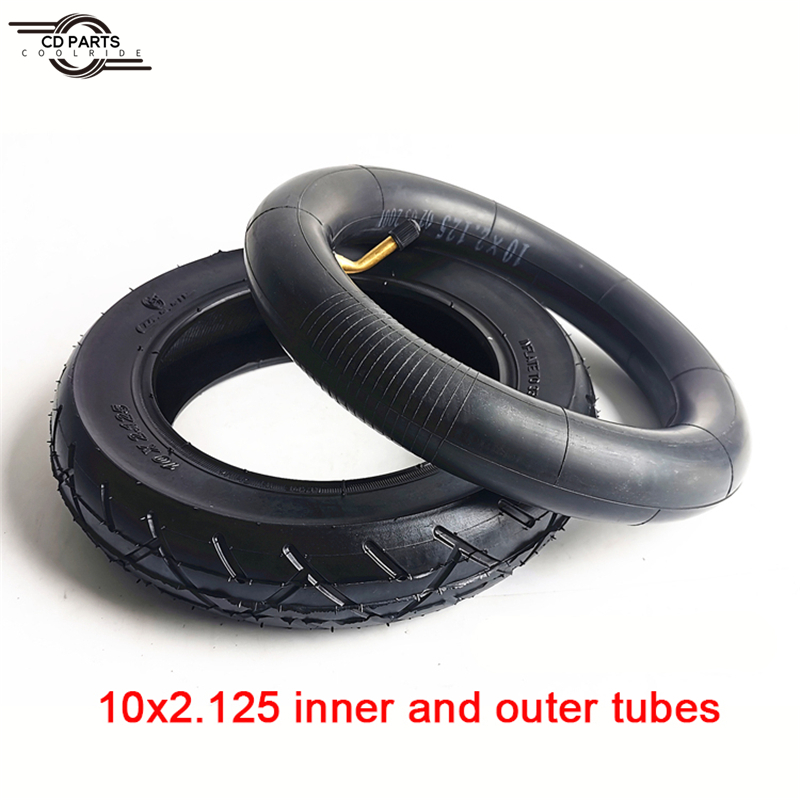 10 Inch Electric Scooter Tire 10x2.125 Inner and Outer Tire with Aluminum Alloy Wheel M10 M12 Rear Wheel Disc Brake