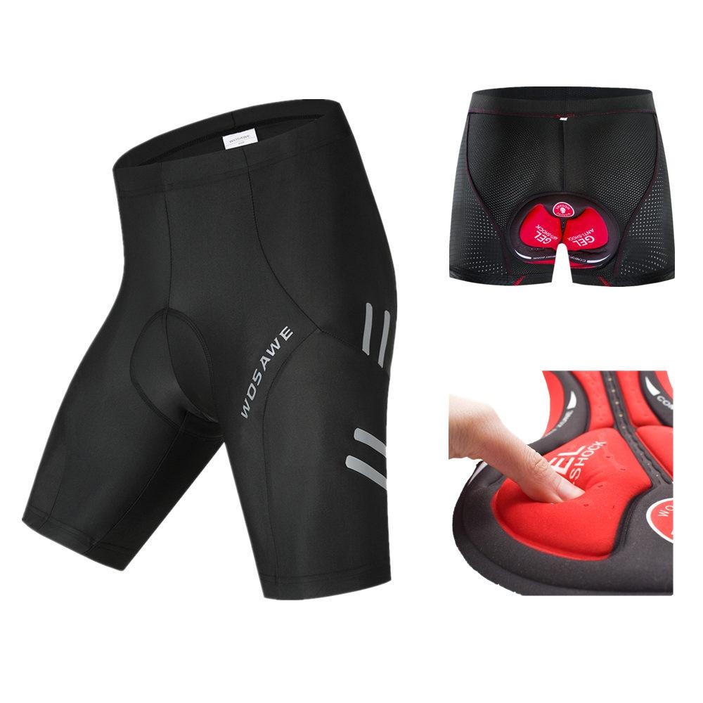 Pantalones cortos de ciclismo para mujer con acolchado de gel 5D.