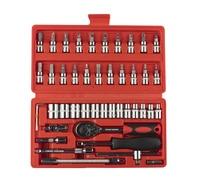 Tool 46pcs 1/4 Inch Socket Set Car Repair Tools Set Ratchet Torque Wrench Combo Toolkit Ferramenta
