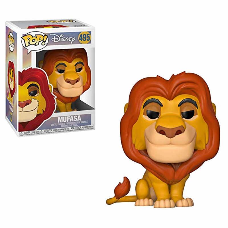 Funko POP Disney Kartun Film The Lion Simba Luau Pumbaa Mufasa PVC Action Figure Collectible Model Mainan chlidren Hadiah Natal