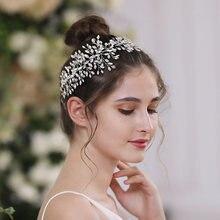 Trixy h237 потрясающая Свадебная повязка на голову стразы свадебные